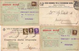 (C).Padova.Lotto Di 4 Cartoline Commerciali Pubblicitarie.Una Raccomandata (255-a17) - Padova (Padua)