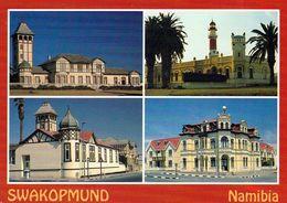 1 AK Namibia * Swakopmund - Woermannhaus, Kaiserliches Bezirksgericht, Leuchtturm Und Haus Hohenzollern - Namibia