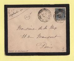 Sassot Le Mauconduit - Seine Inferieure - Boite Rurale Supplementaire A2 - 1892 - Sans Correspondance - 1877-1920: Période Semi Moderne