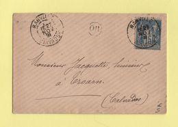 Ranville - Calvados - 1891 - OR Origne Rurale - Sans Correspondance - 1877-1920: Période Semi Moderne