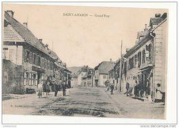SAINT AMARIN GRAND'RUE CPA BON ETAT - Saint Amarin