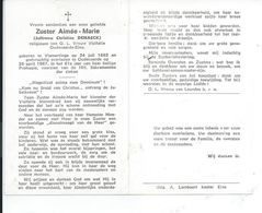 B.P. ZUSTER VLAMERTINGE DEHAECK CHRISTINE 1882 - 1967 OUDENAARDE - Religion & Esotericism