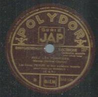"""78 Tours - LES FRERES PEGURI  - POLYDOR 512218  """" AVEC LES POMPIERS  """" + """" LE BISTROT DU PORT """" - 78 Rpm - Gramophone Records"""