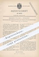 Original Patent - Emanuel Stauber , Budapest , 1886 , Ventilator Mit Notsignal Für Eisenbahnen | Eisenbahn - Signal !! - Documents Historiques
