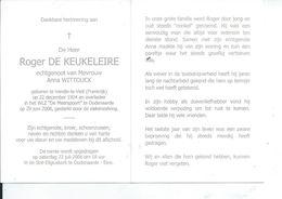B.P. FRANCE  VENDIN LE VIEIL DE KEUKELEIRE ROGER 1924 - 2006 OUDENAARDE - Religion & Esotericism