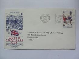 GB 1966 FDC World Cup With Harrow & Wembley Postmark - Cartas