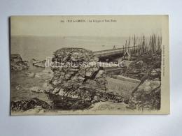 FRANCIA FRANCE ILE DE GROIX Le Grippe Et Port Tudy CPA Old Postcard - Groix