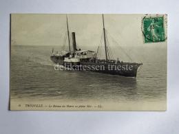 FRANCIA FRANCE TROUVILLE SUR MER Bateau Du Havre  CPA Old Postcard - Trouville