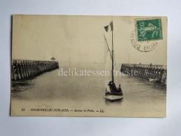 FRANCIA FRANCE COURSEULLE SUR MER Bateau De Peche Barque CPA Old Postcard - Courseulles-sur-Mer