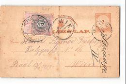 6028 02 POSTAL STATIONARY OSTERREICH AUSTRIA STEMPEL MARKE ZWOLF KREUZER HUNGARY GYOR TO WIEN - Postal Stationery
