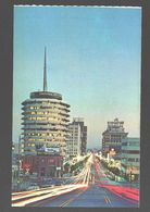 Hollywood - World Famed Vine Street At Night - Capitol Record Building - Los Angeles