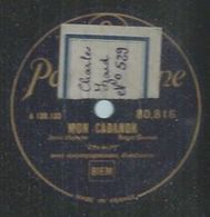 """78 Tours - VALROY  - PARLOPHONE 80816  """" MON CABANON  """" + """" AH, AH, AH, OH, OH, OH ! """" - 78 Rpm - Gramophone Records"""