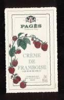 Etiquette  De  Crème De Framboise -  Pagès Le Puy En Velay  (43) - Etiquettes