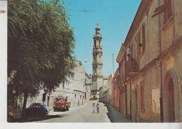 Mores Sassari Chiesa Parrocchiale Campanile Auto Camion Vg - Sassari