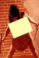 Photo Couleur Glacée Originale FKK & Nu Adulte - Pose De Pin-up Nue De Face Et Jeu De Cache Cache Vers 1960/70 - Pin-up