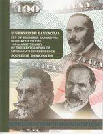 LITHUANIA 2018 Souvenir 3 Banknotes Set In Booklet 50, 100, 500 UNC - Lithuania