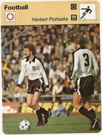 ZZ 1088/89/90   PROHASKA RENSENBRINK  RIVA  3 Cartes Football A Voir   Edition Rencontre (annee Vers 1977/78) - Trading Cards
