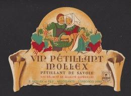 Etiquette De Vin Pétillant De Savoie   - Thème Couple  - Maison Mollex à Corbonod (01)  -  Années 60 - Coppie