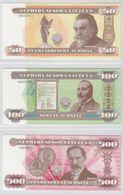 LITHUANIA 2018 Souvenir 3 Banknotes Set 50, 100, 500 UNC - Lithuania