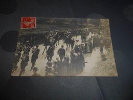 6963 - Carte-Photo , Sourdeval, Vallée De Brouains , Défilé , Fanfare, Cavalier, 1909 - France
