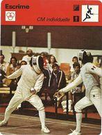 ZZ 1096  ESCRIME  Cartes Sport A VOIR    LOT DE 11 CARTES            Edition Rencontre (annee Vers 1977/78) - Trading Cards