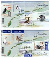 MNH 2003 Nederland Wad Birds Seal Vogels Zeehond Krab Crab Wadden Eilanden Map Cartography Animals Dieren 2 Sheets Velle - Seagulls