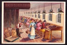 CHROMO Chocolat SUCHARD   +/- 1893    Serie 33     Scènes De Genre     Trade Card   Fabrication Du Chocolat - Suchard