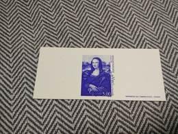 GRAVURE 1999 LA JOCONDE LEONARD DE VINCI - Epreuve De Luxe De L'Imprimerie Des Timbres Poste - Luxury Proofs