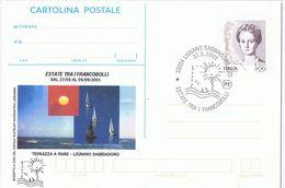 Busta + Cartolina Postale + Cartolina : Manifestazione Filatelica Lignano Sabbiadoro 2001 - Manifestazioni