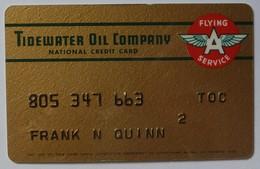 USA - Oil Credit Card - Tidewater Oil Company - Flying A Service - Used - Krediet Kaarten (vervaldatum Min. 10 Jaar)