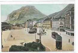 38 GRENOBLE  PPLACE DE LA GARE TRAMWAY CASQUE DE NERON PLAN ANIME - Grenoble