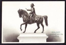 CHROMO Chocolat SUCHARD   +/- 1894  Serie 36   Monuments Suisses   Général Dufour à Genève  Trade Card - Suchard