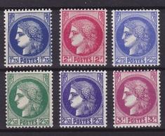 V/Verso ** N° 372-373-374-375-375A-376  Neufs ** 1938 - - Neufs