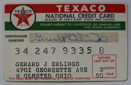 USA - Oil Credit Card - Texaco National Credit Card - Exp 03. 60 - Used - Geldkarten (Ablauf Min. 10 Jahre)