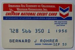 USA - Oil Credit Card - Standard Oil Company Of California - Chevron National Credit Card - Exp Sep 59 - Used - Geldkarten (Ablauf Min. 10 Jahre)