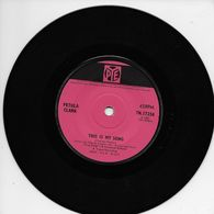 """Petula Clark 45t. SP ANGLETERRE *this Is My Song"""" - Other - French Music"""