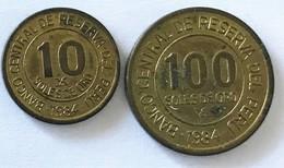 Pérou - 10 Soles De Oro 1984 - 100 Soles De Oro 1984 - Pérou