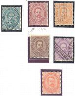 Italie: Yvert N°33/39 - 1878-00 Humbert I