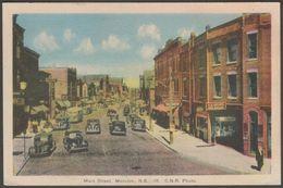 Main Street, Moncton, New Brunswick, C.1930s - Photogelatine Engraving Co Postcard - New Brunswick