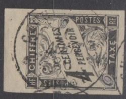 #127# COLONIES GENERALES TAXE N° 4 Bdf Oblitéré Saigon (Cochinchine) - Portomarken