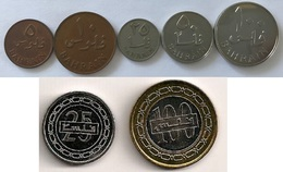 Bahrain - 5 Fils 1965 - 10 Fils 1965 - 25 Fils 1965 - 25 Fils 2010 - 50 Fils 1965 - 100 Fils 1965 - 100 Fils 2010 - Bahrein