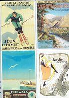 Anciennes Pubs Chemin De Fer De L'état L'île D'Aix - Vernet-les-Bains - Villard De Lans - Jane Avril Jardin De Paris - Ferrovie