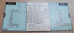 Règle à Calcul De 1935 - OMARO - Fers Profilés En U - Fars Profilés En T - Sciences & Technique