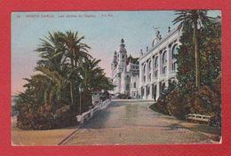 Monte Carlo  -  Les Jardins Du Casino -  Timbre Anglais Au Verso - Casino