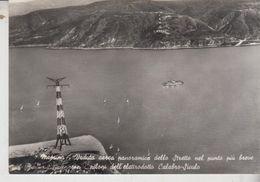 Messina Veduta Aerea Panoramica Dello Stretto Piloni Dell'elettrodotto Calabro Siculo No Vg - Messina