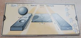 Règle à Calcul De 1935 - OMARO - Duretés Tôles Fers Plats - Sciences & Technique