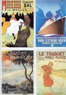 4 Anciennes Pubs Moulin Rouge La Goulue - Navigation Hamburg-Amérika Linie - Le Touquet Paris-Plage Arcachon Du Nord - Publicité