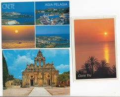 Crete/Creta/Kreta - 3 Postcards - Griekenland