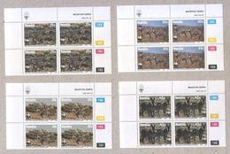 Namibia 1991 WWF Mountain Zebra Blocks Of Stamps MNH - Namibia (1990- ...)