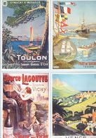 4 Anciennes Pubs P.L.M. Toulon - Toulon Port De Guerre - St-Yorre Vichy - Vence-Nice - Publicité